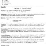Grade 6 Lab Report Template