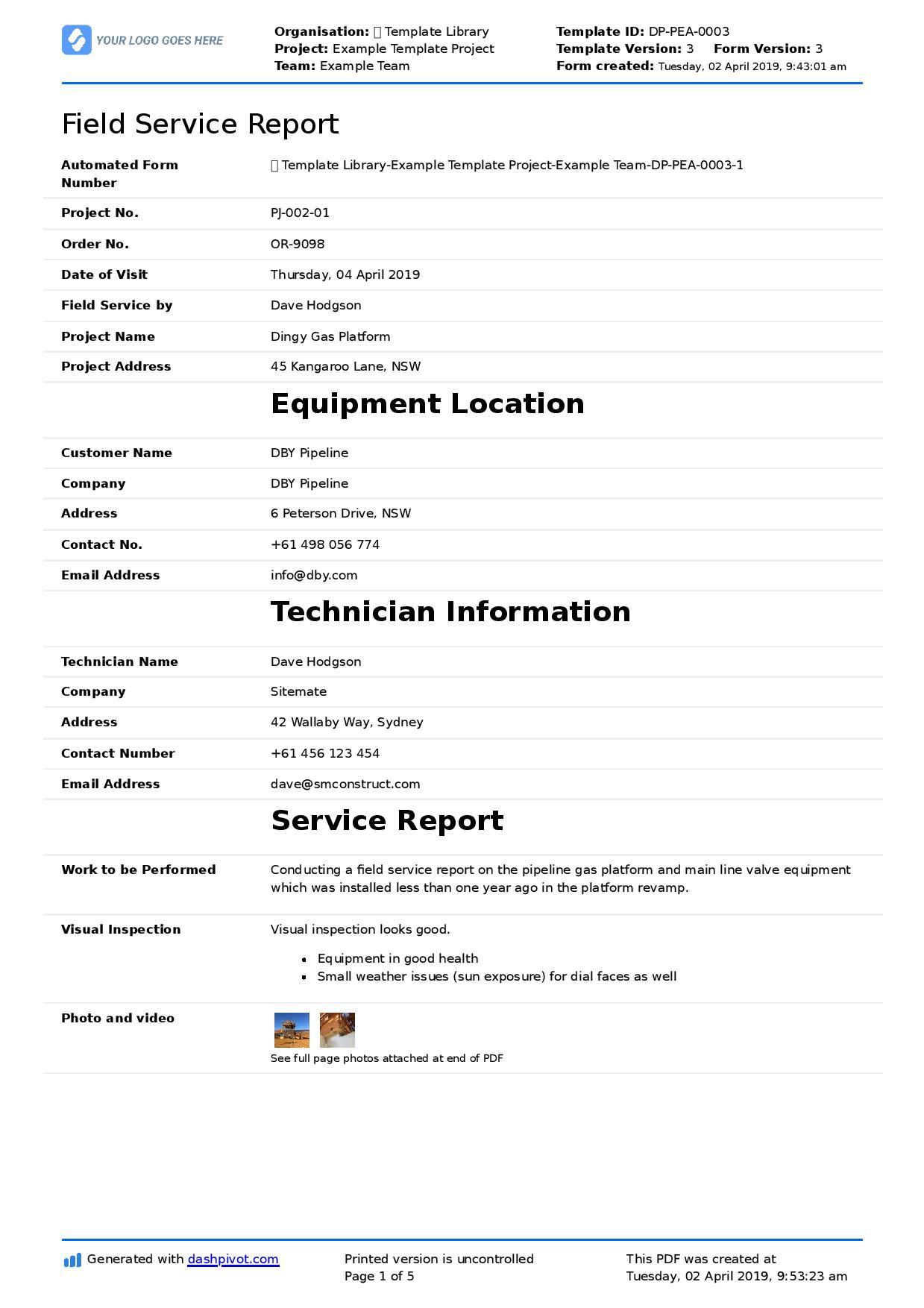 Report Template Download