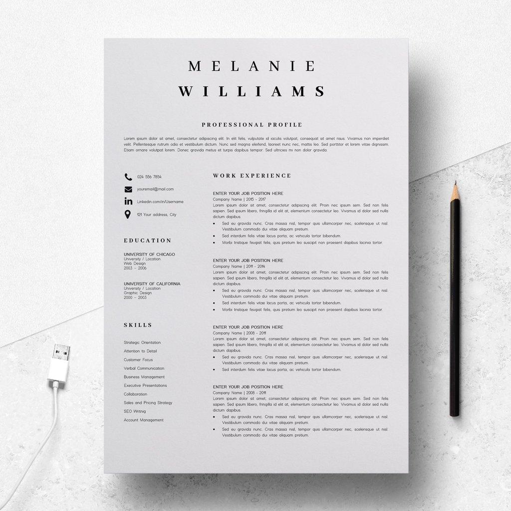 Resume Templates Minimalist