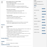 Resume Templates No Experience
