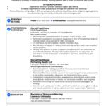 Resume Templates Nurse Practitioner