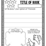 Book Report Template 1st Grade