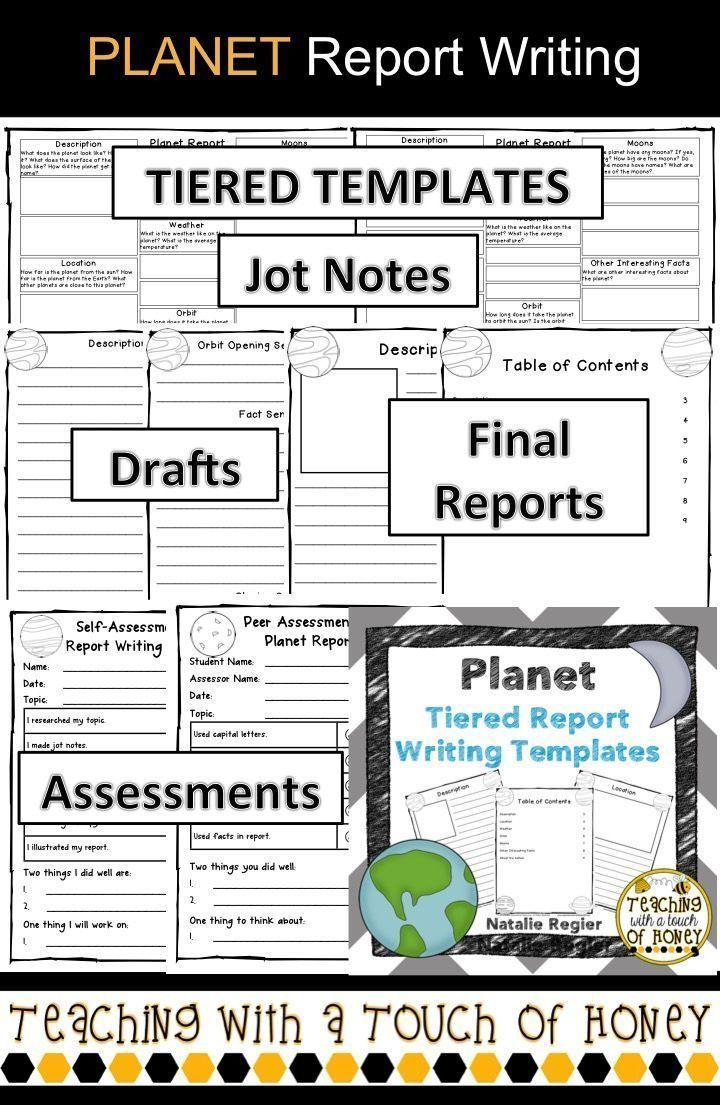 Planet Report Template 3rd Grade